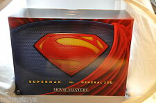 SDCC 2013 EXCLUSIVE MAN OF STEEL SUPERMAN VS GENERAL ZOD MOVIE MASTERS 2 PACK