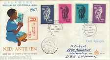 NETHERLANDS ANTILLES REG AIRMAIL FDC 1967 CULTURAL & SOCIAL RELIEF FUND