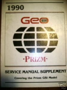 1990 Chevrolet Geo Prizm Electrical Diag Service Manual