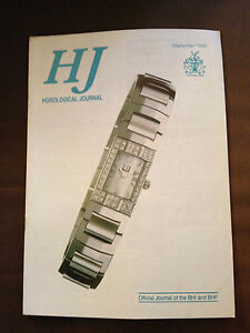 SEPT 1998 HOROLOGICAL JOURNAL MAGAZINE - MONTH-GOING CHIMING GRANDMOTHER CLOCK