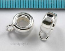 2x STERLING SILVER BAIL SLIDE PENDANT CONNECTOR 3.6mm cord #1406
