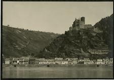 Allemagne, Château sur le Rhin Germany. Vintage print. Tirage argentique  17