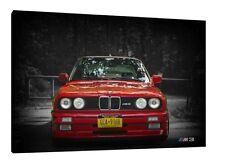 BMW E30 M3 30x20 pulgadas impresión de imágenes de estructura clásica de LONA pared arte cartel