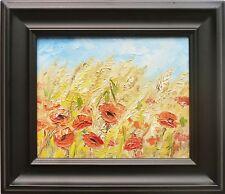 """Summer poppies"""" oil on canvas, Irek T. Szelag"