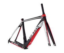 De Rosa PROTOS Carbon Road Bike Frame & Fork : Matte Black/Red/White 57.1 CM
