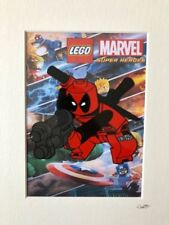 Lego - Marvel Comics - Deadpool - Hand Drawn & Hand Painted Cel