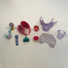 Barbie Horse  Accessories Lot Bucket Food Saddle Brush Trophy + More
