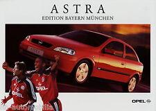 Prospekt Opel Astra Edition Bayern München 2 00 2000 Autoprospekt brochure Auto