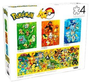 Pokémon x3 (300 Piece) + x1 (500 Piece) Jigsaw Puzzle 4 total puzzles included!