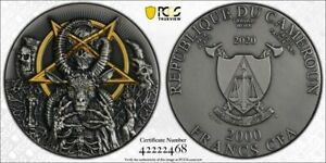 2020 MW Cameroun Evil Ultra High Relief Silver Antique Finish PCGS MS69 2468
