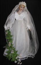 ~Unique Princess Diana Porcelain Collectible Wedding Day Bride Doll~