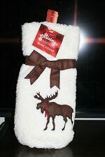 Traditions Christmas Wine Bottle Cover Bag Plush Elk Reindeer CHB1