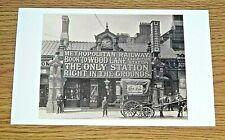 LONDON TRANSPORT POSTCARD ~ FINCHLEY ROAD METROPOLITAN STATION ~ PHOTOGRAPH,1910
