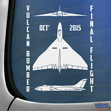 Vulcan Bomber Vuelo Final Doncaster coche ventana calcomanía avión Etiqueta del vinilo