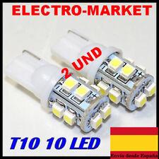 2x BOMBILLA T10 LED COCHE W5W 10 SMD3528  LUZ BLANCA EFECTO XENON T-10 12V
