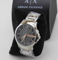 NEW AUTHENTIC ARMANI EXCHANGE SILVER GREY MEN'S AX2199 WATCH