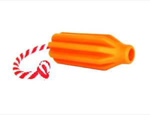 Dog Pet Rocket Pop Dental and Retrieving Toy Tough Rubber Toy