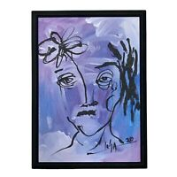 PAINTING ORIGINAL ACRYLIC ON CANVAS PANEL (FRAME INCLUDED) CUBAN ART by LISA.