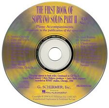 The First Book of Soprano Solos Part II Accompaniment CDs Set of 2 Voc 050483144