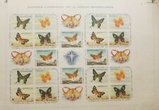 O) 1961  SPANISH ANTILLES, PROOF IMPERFORATE,  CHRISTMAS, INSECTS -BUTTERFLIES -