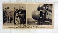 1919 Atlantic Airmen Visit Sheffield, Coupons Drawn For Free Flight