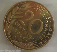 20 centimes marianne 2001 : BE : pièce de monnaie française