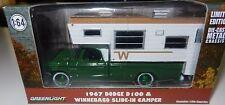Greenlight 29866 1967 Dodge D-100 Winnebago w/ Slide-In Camper 1:64 Scale CHASE