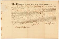 John Jay Signed Document as Govenor of New York 1800 with JSA LOA