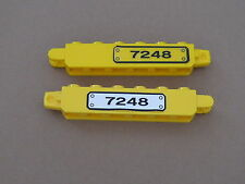 Lego 2 charnieres jaunes 7248 / 2 yellow hinge decorated  1 x 6