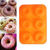 1PC 6-Cavity Doughnut Mold Silicone Fondant Cake Chocolate Mould Baking Tool Hot