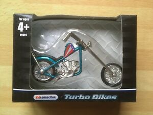 EASY RIDER CHOPPER DIE CAST ~ New In Box ~ Captain America Harley Davidson Rare