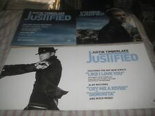 Justin Timberlake-(justified)-1 Poster Flat-2 Sided-12X24 Inches-Nmint!
