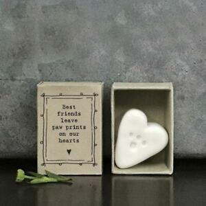 Porcelain Paw Prints Matchbox Gift - Best Fiends - Keepsake - East Of India