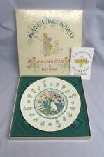Royal Doulton Kate Greenaway Almanack April Taurus Astrological Plate Mib