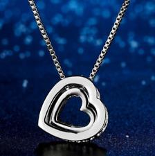 Collier Double Coeur Cristal Eternel Love - Bijoux des Lys