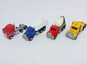 1979 Hot Wheels/ Yatming Peterbilt Semi Truck Dump Truck & Cement Truck Lot