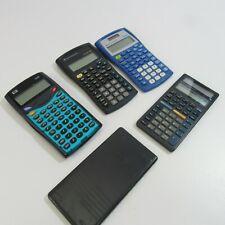 Lot of 4 Scientific Calculators Ti-34 Hp 30S Ti-30X Iib Ti-34 Ii Collection