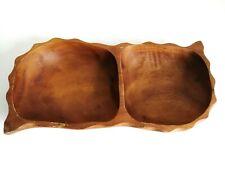 Wooden Bowls retro Vintage MCM Nibbles Serving Dish Plate Boho party