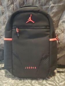 Nike Jordan Retro 6 Black Infrared Backpack Book bag