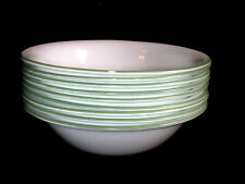 "9 Corelle 7 1/4"" Soup Cereal Bowls Green Edge Shadow Iris Summer Blush Etc."