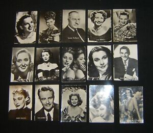 1952 A nice lot of 60 Belgian Chewing Gum Film Movie stars Trade Cards 40x60mm