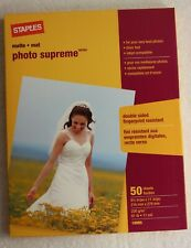 STAPLES 19895 MATTE PHOTO SUPREME PAPER 50 SHEETS 8.5 X 11 61 LB NEW IN BOX,,