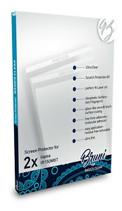Bruni 2x Protective Film for Hama IR150MBT Screen Protector Screen Protection