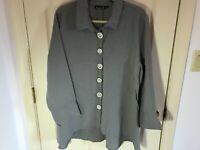 Woman's Lulu B size XL grey embellished rayon blend 3/4 sleeve tunic blouse