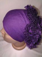 Bone mit Rüschen 100/% Baumwolle Hijab Kopftuch Kopfbedeckung NEU