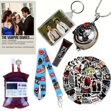 More details for the vampire diaries gift set, stickers necklace blood bag lanyard keyring poster