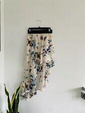 Charlotte Russe Butterflies High-Low Asymmetrical Skirt Sz M