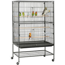 "52"" Standing Flight Parrot Bird Cage Cockatiel Parakeet Conure Cage"