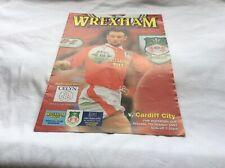 Wrexham v Cardiff City FAW Invitation Cup October 1997