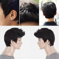 Fashionable Boys Wig Men's Short Layers Synthetic Hair Costume Cosplay Party Wig
